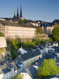 Lower Town, View of Grund, Luxembourg City, Luxembourg Photographic Print by Walter Bibikow