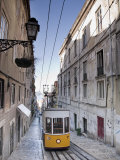 Elevador Da Bica, Bairro Alto District, Lisbon, Portugal Photographic Print by Michele Falzone
