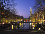 Prinsengracht and Wsterkerk, Amsterdam, Holland Lmina fotogrfica por Jon Arnold