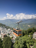 View of City from Damovar Ropeway, Gangtok, Sikkim, India Photographic Print by Jane Sweeney