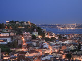 Baixa District and Castelo De Sao Jorge, Lisbon, Portugal Photographic Print by Michele Falzone