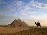 Pyramids, Giza, Egypt Fotografisk tryk af Steve Vidler