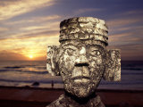 Chacmool Statue, Cancun, Mexico Photographic Print by Demetrio Carrasco