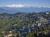 Darjeeling and Kanchenjunga, West Bengal, India Photographic Print by Jane Sweeney