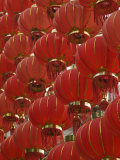 Red Lanterns on Boai Lu, Old Town, Dali, Yunnan Province, China Photographic Print by Walter Bibikow