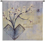 Zen Flower Wall Tapestry by Asha Menghrajani