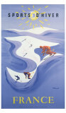 Sport d&#39;Hiver en France Giclee Print by Bernard Villemot
