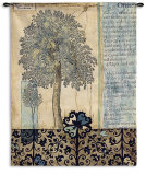 Blue Autumn Wall Tapestry by Jennifer Goldberger