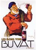 Les Bons Vins Buvat Giclee Print by Leon Dupin