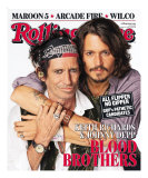 Johnny Depp & Keith Richards, Rolling Stone no. 1027, May 31, 2007 Photographic Print by Matthew Rolston