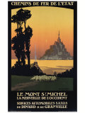 Le Mont St. Michel Giclee Print by Constant Leon Duval