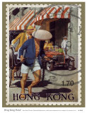 Hong Kong Postal Print by Kate Ward Thacker