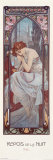 Repos de la Nuit Posters por Alphonse Mucha