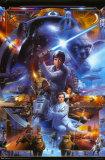 Colagem da Saga de Guerra nas Estrelas Poster