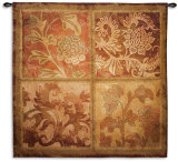 Botanical Scroll Wall Tapestry