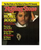 Michael Jackson, Rolling Stone no. 417, March 15, 1984 Photographic Print by Matthew Rolston
