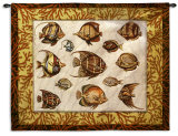 Coral Fish Study Wall Tapestry