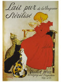 Lait pur sterilize Giclee Print by Th&#233;ophile Alexandre Steinlen
