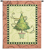 Christmas Topiary Wall Tapestry by Vivian Eisner