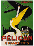 Pelican Cigarettes Reproduction proc&#233;d&#233; gicl&#233;e par Ch. Yraz