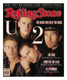 U2, Rolling Stone no. 521, March 10, 1988 Photographic Print by Matthew Rolston