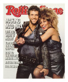 Mel Gibson and Tina Turner, Rolling Stone no. 455, August 29, 1985 Photographic Print by Herb Ritts