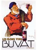 Les Bons Vins Buvat Giclée-tryk af Leon Dupin