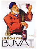 Les Bons Vins Buvat Giclee Print by Leon Dupin