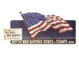 War Savings Bonds & Stamps Giclee Print