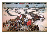 Long Live the 3-Million-Man Red Army, c.1919 Giclee Print by Alexander Apsit