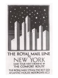 The Royal Mail Line to New York, c.1925 Giclee Print by Horace Taylor