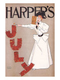 Harper's July, c.1894 Giclee Print by Edward Penfield