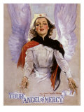 Your Angel of Mercy, c.1917 Lámina giclée por Howard Chandler Christy