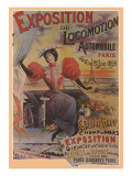Exposition de Locomotion Automobile, Paris, c.1895 Giclee Print by Ernest Clouet