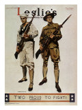 Leslie's Magazine: Too Proud to Fight, c.1917 Giclee Print by James Montgomery Flagg