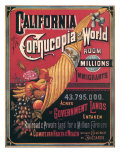 California , Cornucopia of the World, c.1880 Giclee Print