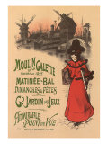 Moulin de La Galette, c.1896 Gicleetryck av Roedel