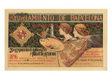 Third Barcelona Exposition: A Yuhiamiento de Barcelona, c.1895 Giclee Print by Alejandro De Riquer