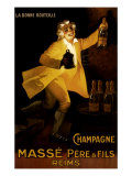 Masse Pere &amp; Fils Champagne, c.1920 Giclee Print by Marcellin Auzolle