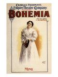 Bohemia: Charles Frohman's Empire Theatre Company, c.1895 Giclee Print