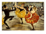 The Cancan, c.1900 Giclee Print by Adolphe Willette