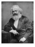Portrait of German-Born Political Economist and Socialist Karl Marx, 1818-1883 Fotografická reprodukce