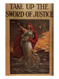 Take Up the Sword of Justice, c.1914 Impresso gicle