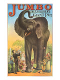 Jumbo, the Children&#39;s Giant Pet Giclee Print