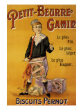 Label of Pernot Biscuits: Petit Beurre Gamin, c.1901 Giclee Print by Jack Abeille