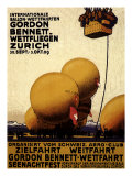 International Balloon Festival, Zurich, c.1909 Giclee Print by Emil Cardinaux
