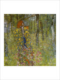 Farm Garden with Crucifix Reproduction procédé giclée par Gustav Klimt