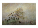 Morning Mist in the Mountains Giclee Print by Caspar David Friedrich