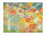 The Dream Is Made to Bloom, Flower of Rainbow Giclee Print by Miyuki Hasekura
