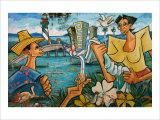 Baracoa Mural Giclee Print by Charles Glover